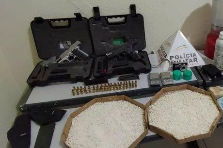 Cocaína foi encontrada em caixas de pizza