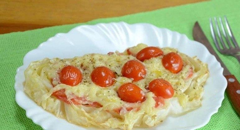 Pizza de repolho fit