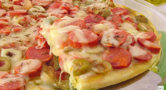 Pizza de salsicha