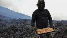 Iguaria mortal: chef assa pizzas em vulcão e conquista clientela fiel