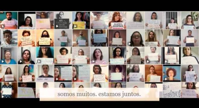 Professores e outros profissionais da educação publicaram vídeo-manifesto