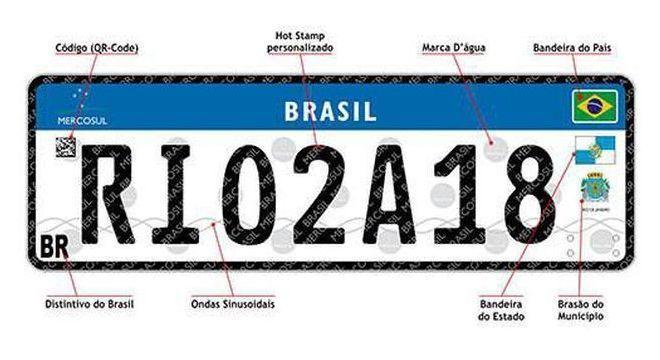 Adoção das novas placas já acontece no Rio de Janeiro