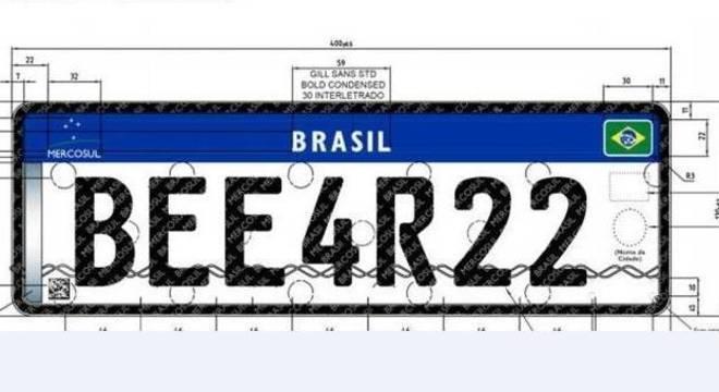 Novo modelo de placa para carros do Mercosul