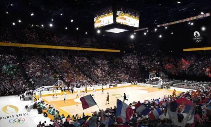 Plano para os Jogos Olímpicos de Paris, em 2024. Bercy Arena será a casa do basquete.