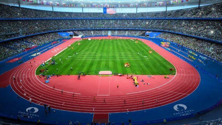 Plano para os Jogos Olímpicos de Paris, em 2024. Cerimônias de abertura e encerramento, além das provas de atletismo de pista e de campo, serão realizadas no Stade de France.