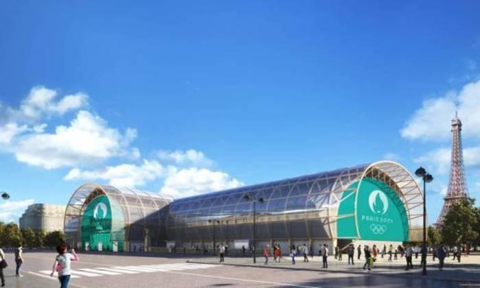 Plano para os Jogos Olímpicos de Paris, em 2024. Champ de Mars, a arena do judô.