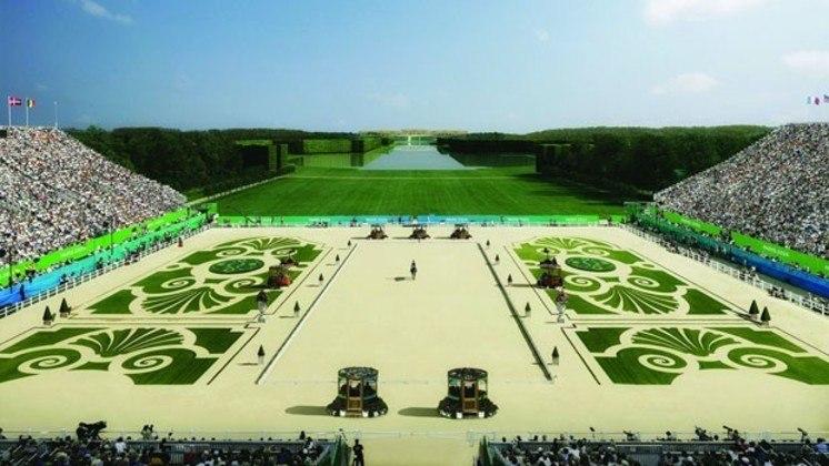 Plano para os Jogos Olímpicos de Paris, em 2024. Jardim do Palácio de Versalhes será palco do hipismo.
