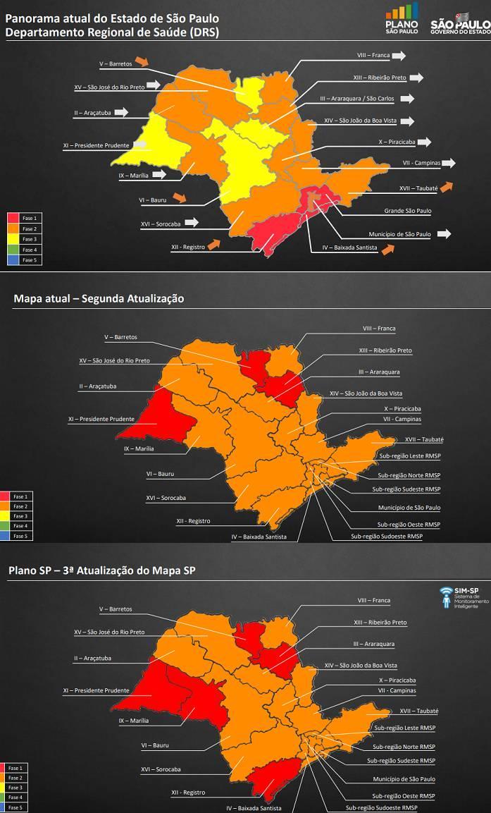 Em três semanas, regiões paulistas regrediram de fase no Plano São Paulo