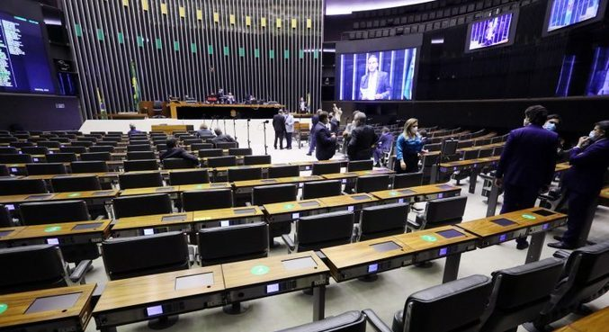 Sessão no plenário da Câmara dos Deputados
