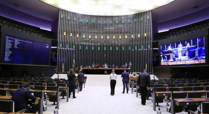 Plenário da Câmara, que aprovou projeto para o setor de eventos