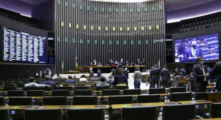 Na imagem, sessão na Câmara dos Deputados