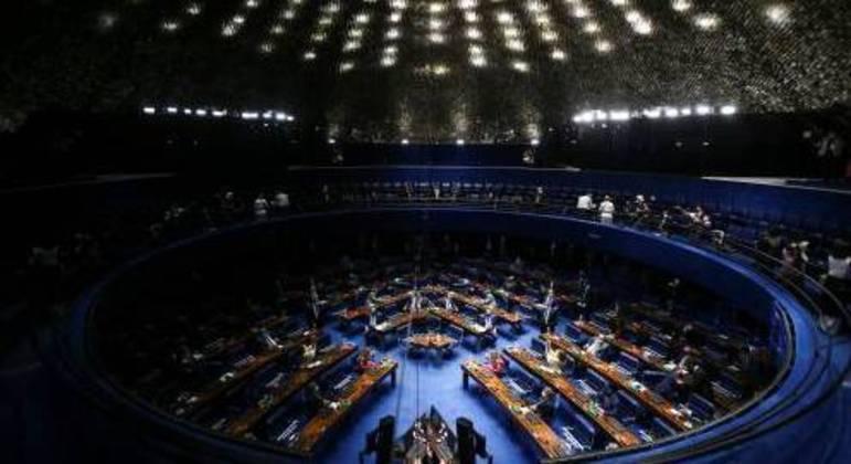 Plenário do Senado, que divulgou restrições de circulação