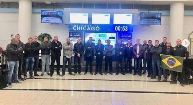Comitiva da PM desembarcou em Chicago nesta sexta-feira (25)