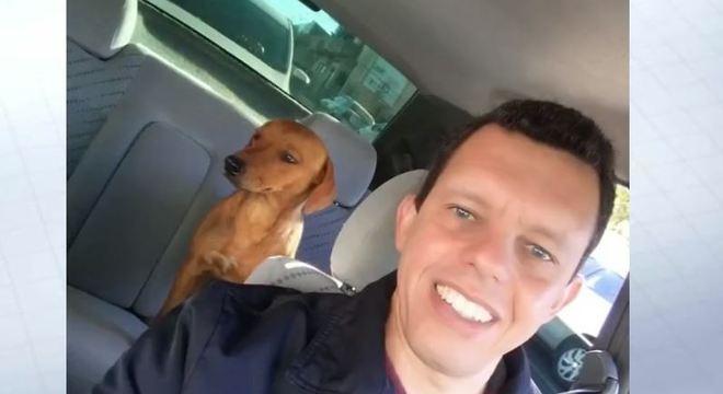 Cadela foi resgatada e adotada por policial militar