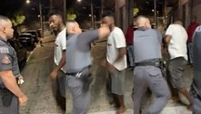 PM dá soco em rosto de homem durante abordagem na Grande SP
