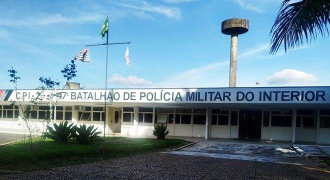 Batalhão onde policial militar matou o colega, no interior de SP