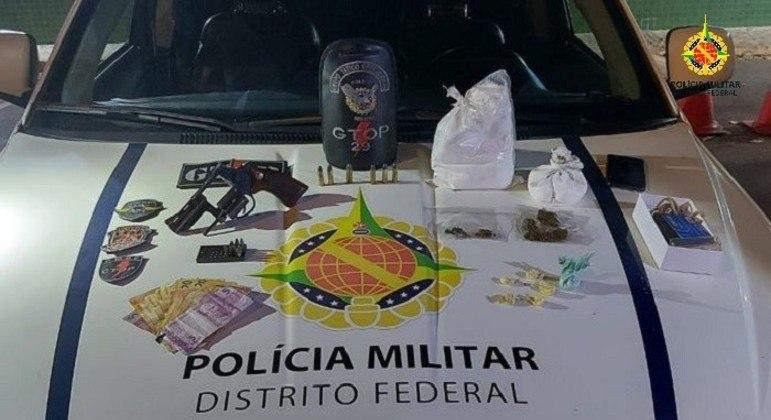 PMDF apreende arma e mais de 1,5kg de cocaína no Gama