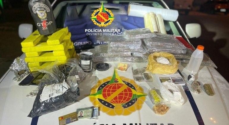 PMDF prende traficante com carga avaliada em R$ 300 mil