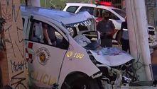 PMs ficam feridos após batida de carro em perseguição na zona sul