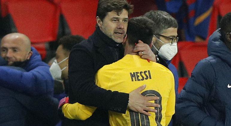 Pochettino e Messi. Ambos argentinos. Sempre se deram muito bem