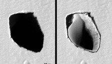 Nasa descobre um poço de 180 metros de diâmetro em Marte