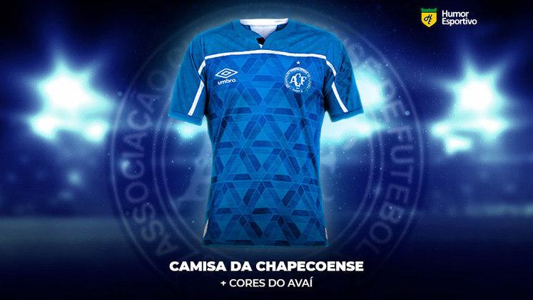 Polêmica no uniforme: a camisa da Chapecoense com as cores do Avaí