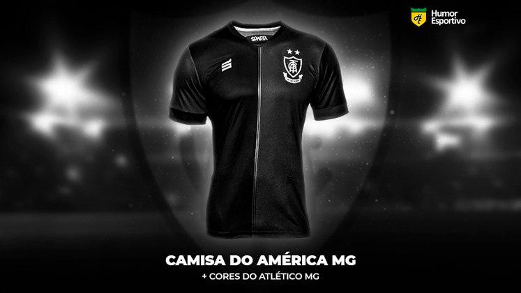 Polêmica no uniforme: a camisa do América-MG com as cores do Atlético-MG