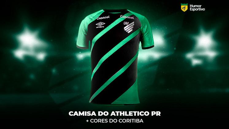 Polêmica no uniforme: a camisa do Athletico Paranaense com as cores do Coritiba