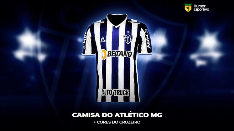 Polêmica no uniforme: a camisa do Atlético-MG com traços do azul do Cruzeiro
