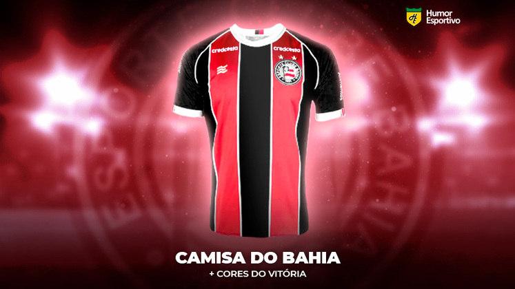 Polêmica no uniforme: a camisa do Bahia com as cores do Vitória
