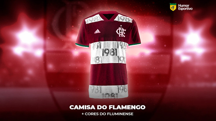 Polêmica no uniforme: a camisa do Flamengo com as cores do Fluminense