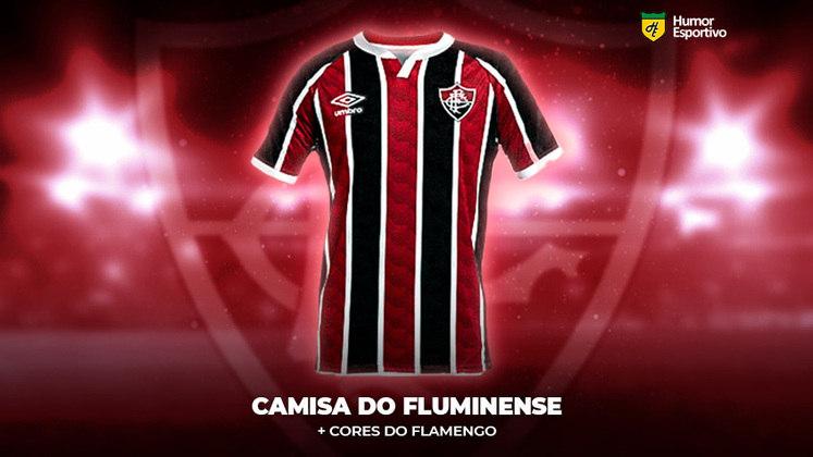 Polêmica no uniforme: a camisa do Fluminense com as cores do Flamengo