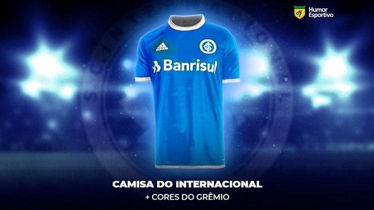 Polêmica no uniforme: a camisa do Internacional nas cores do Grêmio