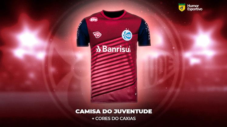 Polêmica no uniforme: a camisa do Juventude com as cores do Caxias