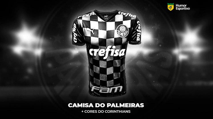 Polêmica no uniforme: a camisa do Palmeiras com as cores do Corinthians