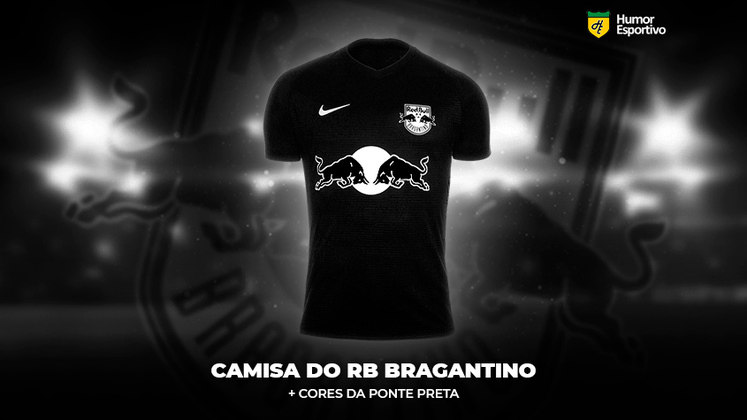 Polêmica no uniforme: a camisa do Red Bull Bragantino com as cores da Ponte Preta