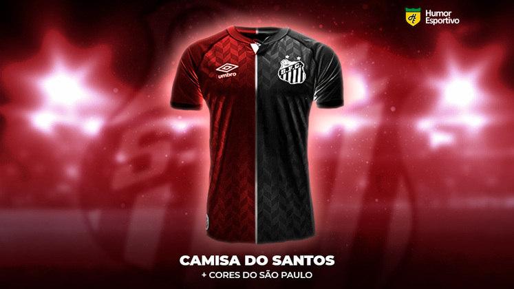 Polêmica no uniforme: a camisa do Santos com as cores do São Paulo