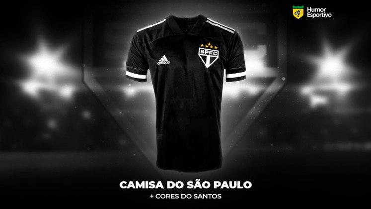 Polêmica no uniforme: a camisa do São Paulo com as cores do Santos