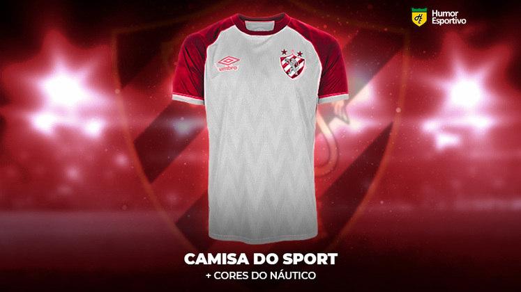 Polêmica no uniforme: a camisa do Sport com as cores do Náutico