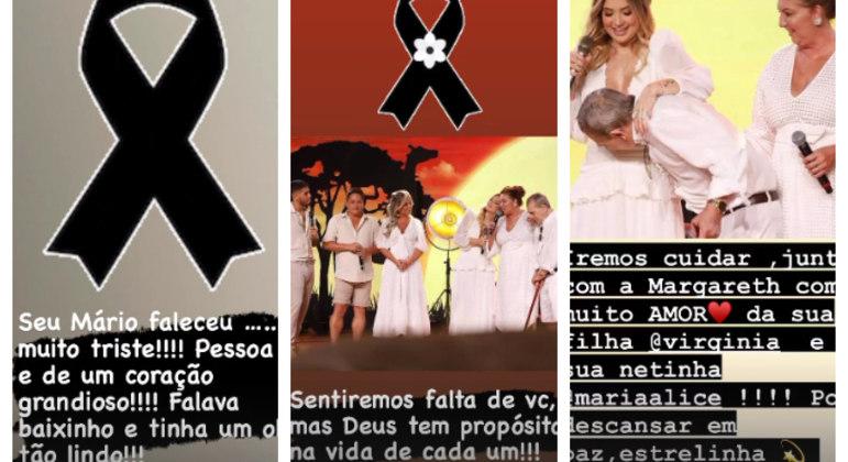 Mensagens de Poliana para o pai de Virginia Fonseca