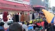Vídeo mostra PMs derrubando mercadorias no Brás, em SP