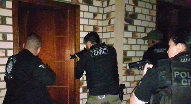 Polícia Civil desencadeou nesta quarta-feira operação Raptor Crédito: Polícia Civil / Divulgação / CP