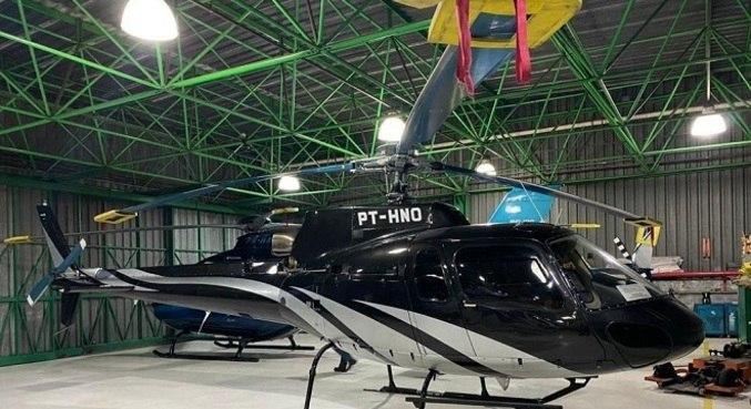 Além de helicóptero, polícia apreendeu Ferrari e barcos