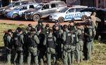 Mais de 300 policiaisintegram a equipe mobilizada nesta quinta-feira (17) para capturar Lázaro Barbosa, suspeito de assassinatos em série