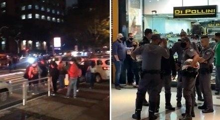 Ação polícia fora e dentro do Shopping Morumbi após invasão de assaltantes