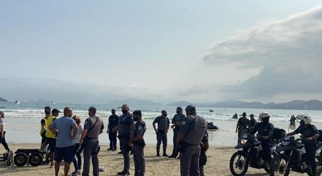 Festa foi encerrada após ação da PM, Guarda Civil e Capitania dos Portos