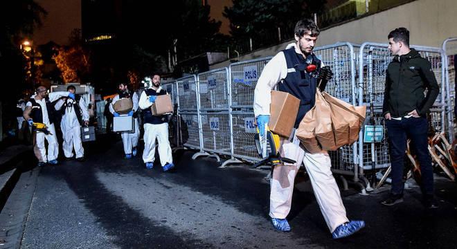 Polícia turca no consulado saudita