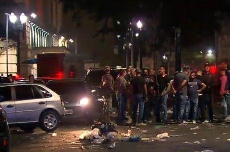 Policiais na Cracolândia quando ex-policial foi esfaqueado