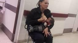 Policial que amamentou bebê abandonado na Argentina ganha uma promoção ()