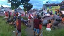 PM agride homem em abordagem em Mogi das Cruzes (SP)